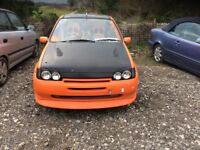 Unfinished project 1995 Ford Fiesta 1.3cc petrol manual 5 door no mot lots of good parts drive away