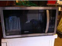 KENWOOD Microwave - Black & Stainless Steel 900W