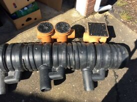 Job lot of new drive gullies and small wet room traps