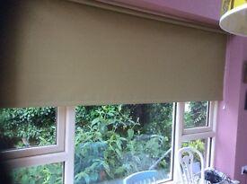 Set of 5 roller blinds olive green
