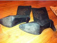 Size 8 - Black boots worn twice & Tan ones never worn