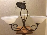 Assortment of light fittings and lamps from £15 or as a lot £60