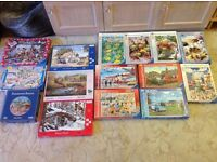 15 Puzzles, £3 each or £8 for 3. (500 x 13, 300 x1, 250 x1) (Ravensburger, HOP, Gibsons)
