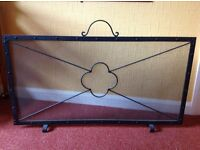 Wrought iron bespoke firescreen/fireguard