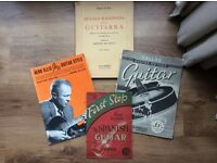 Old music books for jazz classical guitar