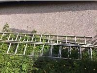 Ladders for outdoor tasks. Set of 3 for extending.