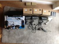 CCTV system and for cameras