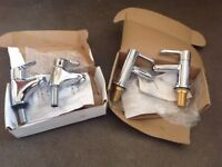 As new never used Bristan bath and sink taps