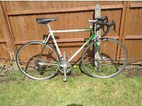 Vintage road bike bicycle. Columbus frame .campagnolo gears . Cycle . Mavic wheels . Fixie . Race .