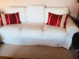 IKEA 3 Seater Removable Covers Sofa
