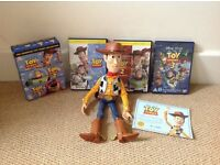 Toy Story Talking Woody & 3 DVDs Collection