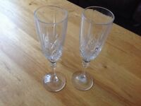 Cut Crystal Champagne Glasses