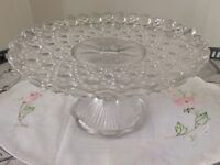 Clear Glass Pedestal Cake Stand.