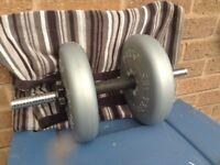York Dumbells, 10 lb/ 4.5 kilos