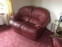 Leather sofas and reclining chair