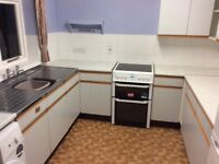 Kitchen units ,cooker and fridge