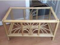 Conservatory cane coffee table