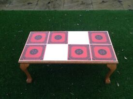 Rectangular Top Tiles Coffee Table