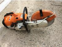 STIHL TS400 cut-off petrol saw with disc. 2 stroke oil. USUAL SPECIFICATIONS BY STIHL. Reliable