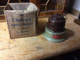 Vintage Boxed The Chalwyn Anti - Frost Oil Heater