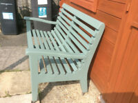 Quality Hardwood Garden Bench in Excellent Condition