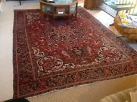 Old Antique Heriz Ahora Hand Knotted Rug (311 x 213 cm)