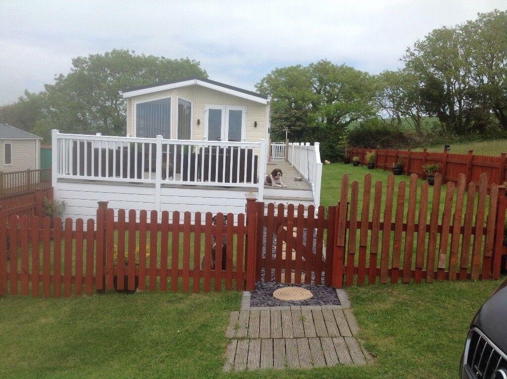 "Static luxury lodge on Dorset Coast near ""Broadchurch"""