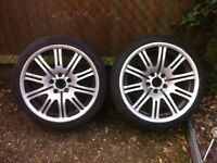 Bmw M3 alloy wheels genuine .. Set of 4 Size front 255 x 35 Rear 225 x 40 £350 .