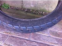 motorcycle tyre 90/90/18 used