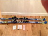 Atomic SUPERCROSS SX10 Skis and bindings in Excellent condition