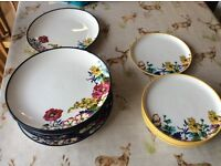 Joules dinner set 8 x large plates 6 x side plates BN