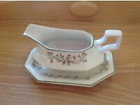 Johnson Brothers Eternal Beau Gravy Jug and Saucer