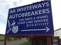 AA WHITEWAYS AUTOBREAKERS CAR PARTS & SPARES AVAILABLE LEEDS/WAKEFIELD