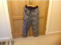 Size 14 M & Co print trousers