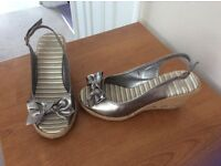 Ladies wedge sandals size 3 1/2