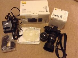 Nikon V1 compact digital camera with 10-30 & 30-110 lenses