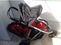 Phil and Ted's Vibe Double Buggy. Includes lots of extra's. In used but vey good condition
