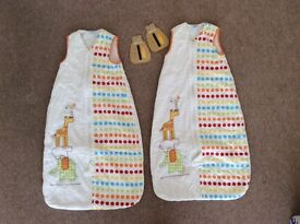 Two unisex grobags 6-18 months 2.5 tog