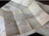 Set of Seven WW1 Repro Trench Maps Beaumont, Thiepval, Ovillers etc