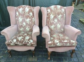 HIGH BACK WING CHAIRS / fire certificate