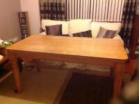 Solid maple kitchen table.