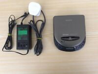 Sony D-111 Discman Compact Disc Player with AC Power Adapter and Manual, in Good Working Condition