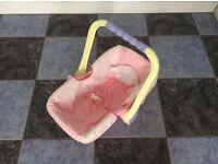 Baby annabel dolls car seat