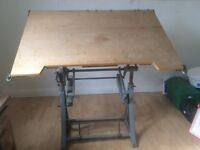 Vintage architects drawing board/ draftsman table