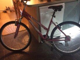 Pink ladies Raleigh bike