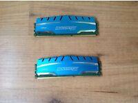 Ballistix 2x sticks 4GB 1600GHZ RAM