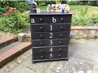 Chest of drawers shabby chic vintage industrial style.