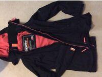 Superdry black ladies small coat