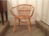 Cane bamboo adult size chair solid condition