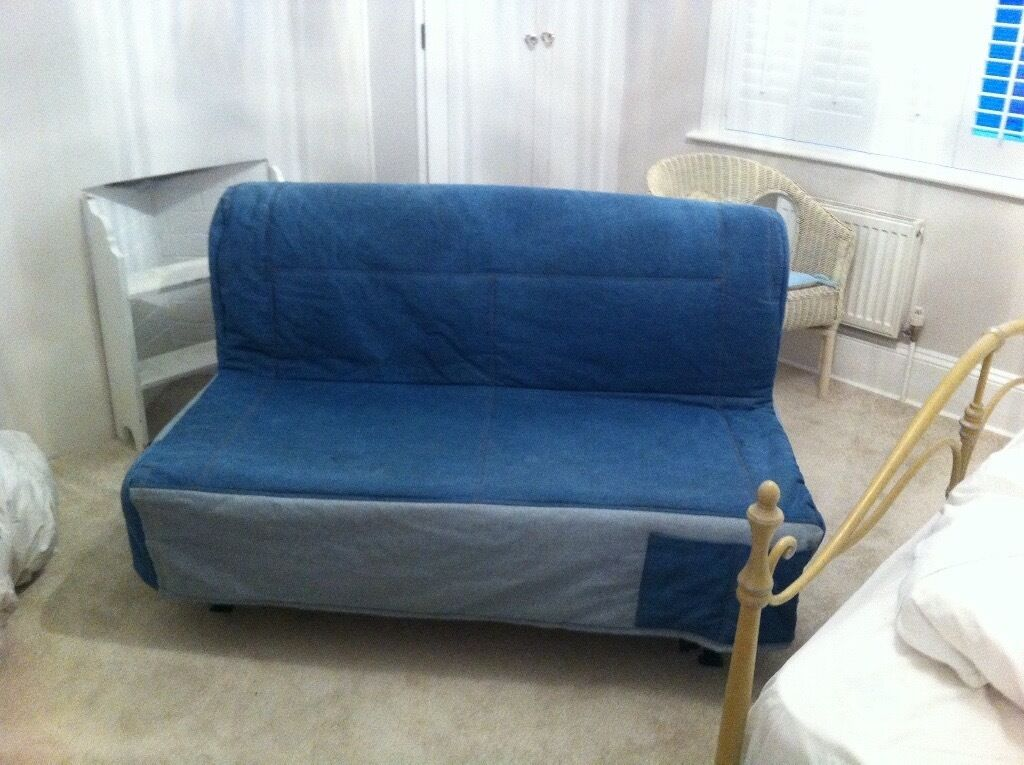 Ikea Lyksela Denim Sofa Bed